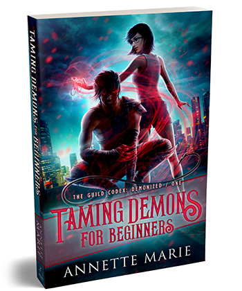 Paperback cover 'Taming Demons for Beginners' by Annette Marie